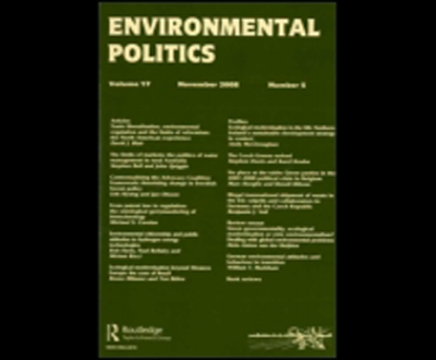 Environmental Politics. New Issue