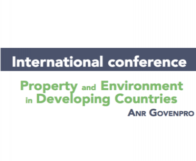 International Conference : Property and Environment in Developing Countries